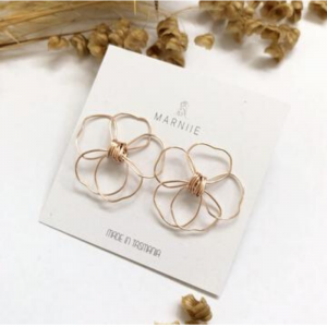Marniie Rose Gold Studs
