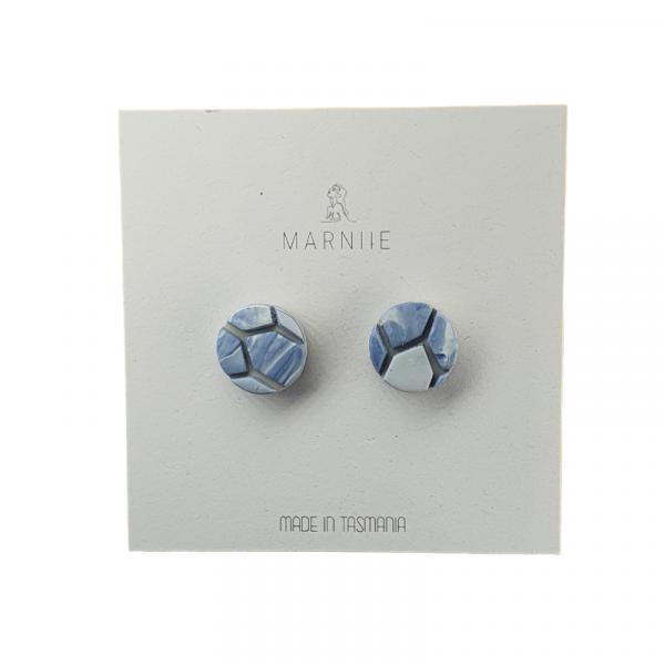 Marniie Blue Tiled Stud